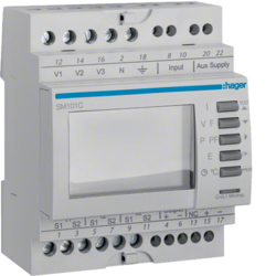 SM101C Digitale multimeter,  din rail,  pulsuitgang