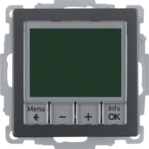 20446086 Therm. met display,  maakcontact,  berker Q.1/Q.3/Q.7, antraciet