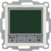 20448982 Therm. met display,  maakcontact,  berker S.1/B.3/B.7, wit glz.