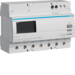 EC368 kWh-meter 3-fase,  direct 100 A M-Bus,  7 mod.