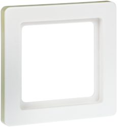 10116089C Afdekraam 1-v,  berker Q.1, polarwit soft-finish,  kleur op specificatie