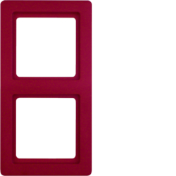 10126062 Afdekraam 2-v,  berker Q.1, rood soft-finish