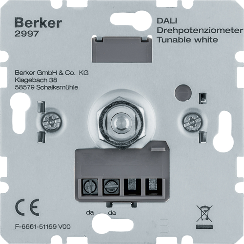 2997 Draai-potentiometer DALI,  Tunable White,  met soft-klik