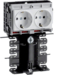 SL201159409010 SL20115, frame outlet incl. 2x WCD wit